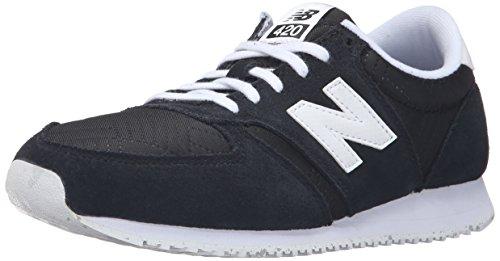 New Balance Women's 420 Prep Pack Lifestyle Sneaker, Black/White, 9 B US (New Balance 420 Womens Schuhe)