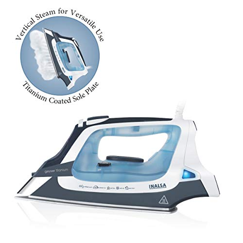 Inalsa Geyser Titanium 2000-Watt Steam Iron with 2 Year Warranty (Multicolor)
