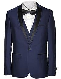 c90c030bf247 HARRY BROWN 3 Piece Slim Fit Dinner Suit in Black/Indigo 36 to 48