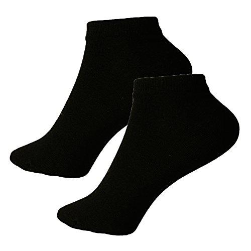 L&K-II 12 Paar Damen Sneaker-Socken Füßlinge 39/42,Schwarz