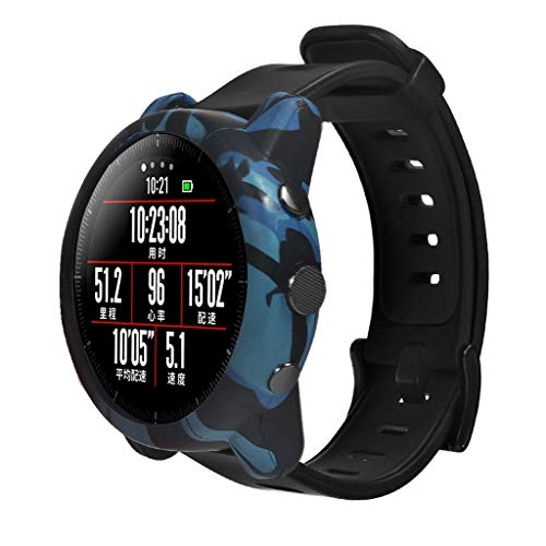Bescita2 - Copertura Completa per Orologio, AntiGraffio, Custodia per Tracker Fitness Ultrasottile, Accessorio per Orologi Durevole, Compatibile con Huami Amazfit Stratos Smart Watch 2 / 2S, Blu