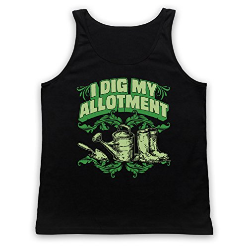 I Dig My Allotment Gardening Slogan Tank-Top Weste Schwarz