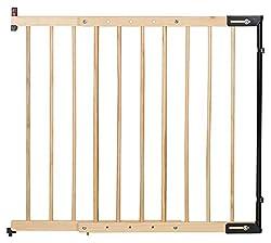 """Clamaro """"KidsGuard V2 Holz Treppenschutzgitter verstellbar von 75,5 cm - 117 cm, universal Treppengitter aus Massivholz zur Wandmontage, inkl. Wand Montagematerial und Montageanleitung"""