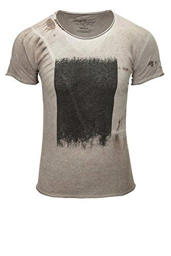 Key Largo Herren T-Shirt Kurzarm Print Sand 1005
