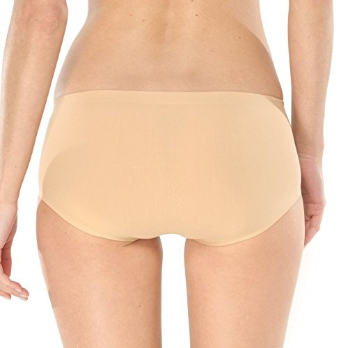 SCHIESSER Damen Hip Pant Invisible 2er Pack Hautfarben (410-nude)