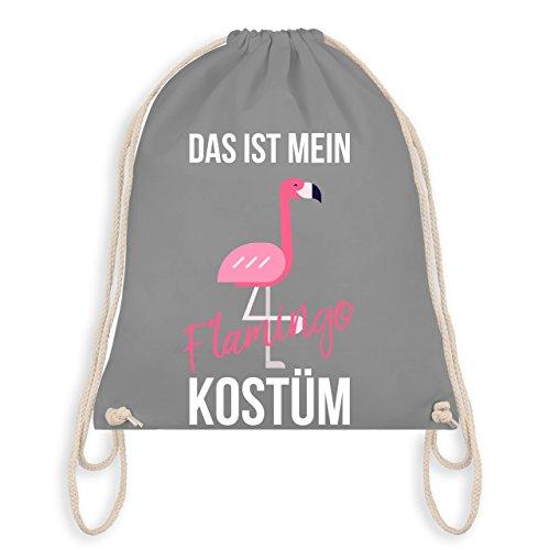 Karneval & Fasching - Das ist mein Flamingo Kostüm - Turnbeutel I Gym Bag Hellgrau