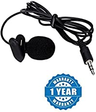 Captcha Lavalier Noise Cancelling 3.5mm Clip On Mini Microphone for Android/iOS Devices (Color may vary)