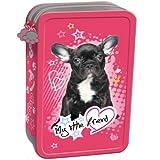 My Little Friend Hund Hündchen komplett gefüllte Federtasche Federmappe Kinder Federmäppchen rosa Schüleretui 2 Fächer Doppelreißverschluss Inhalt 26 Teile