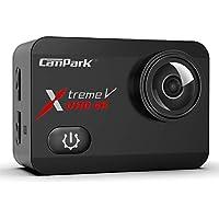 Campark Action Cam 4K 20MP WiFi Wasserdichte 40m Unterwasserkamera Touchscreen Verstellbarem Sichtfeld Sports Actioncam mit EIS Stabilisierung und 2 1350mAh Akku und Zubehöre Kompatibel mit gopro