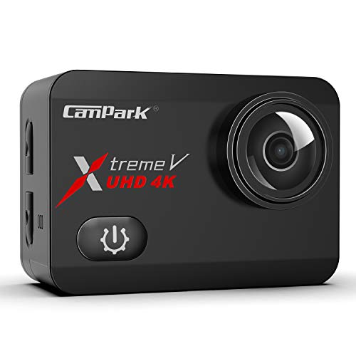 Campark X30 Action Cam 4K 60fps WiFi EIS Touch Screen 20MP Ultra HD Macchina Fotografica Subacquea 40M Videocamera con 2×1350mAh Batterie, 1 Caricabatterie e Kit di Accessori Compatibile con Gopro