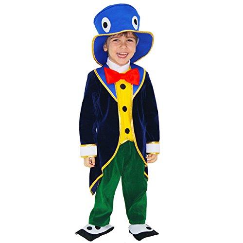 costume di carnevale grillo di pinocchio (2 - 3 anni)