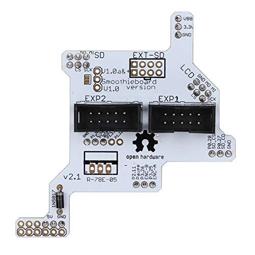 ASHATA 3D-Druckerzubehör, Ersatz-Smoothieboard 5X V1.1 GLCD-Teileanzeige-Adapterplatine GLCD-Adapter für 3D-Drucker