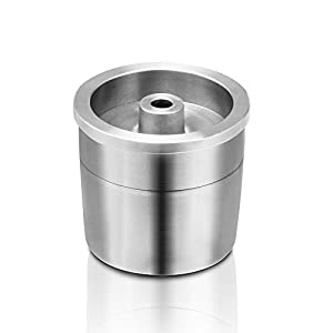 Decdeal Refillable Coffee Capsule 304 Stainless Steel Reusable Cup with Rotary Knob