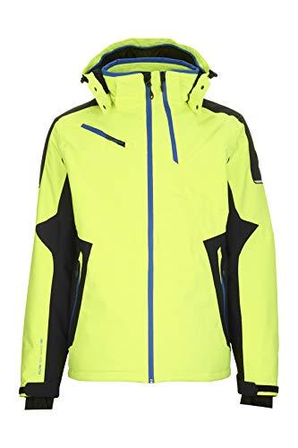 Killtec Herren Stepfen Skijacke Mit Abzippbarer Kapuze Und Schneefang, Neon Lime, S | 04061393013318