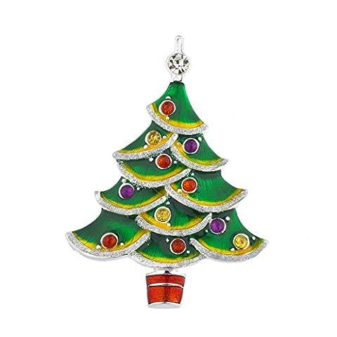 LUX Zubehör Weihnachten Urlaub Baum grün Stein Ornaments Brosche Pin