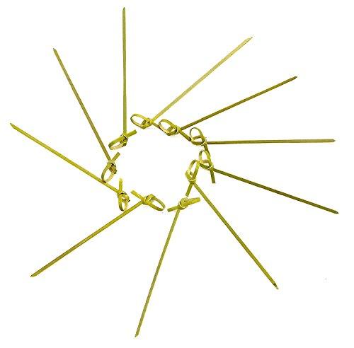 kraftz®–100PCS 12cm geknotet japanischen Stil, Zahnstocher aus Holz für Knabberzeug Sandwitch Vorspeisen