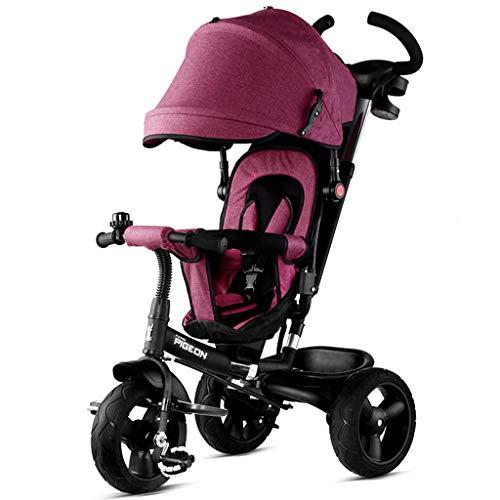 Baby trolley PIGE Kinderwagen - Multifunktions-Kinderwagen Dreirad, verbreiterter Verstellbarer Sitz, tragbares Zusammenklappen, geeignet für Kinder von 1-6 Jahren.