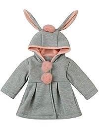 JiaMeng Capa de Abrigo con Capucha Chaqueta Gruesa Ropa de Abrigo de Moda para niños Abrigo Grueso