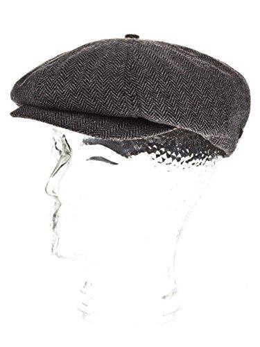 Casquette Brood Herringbone Brixton bonnet type gavroche casquettes dŽete (62 cm - noir)