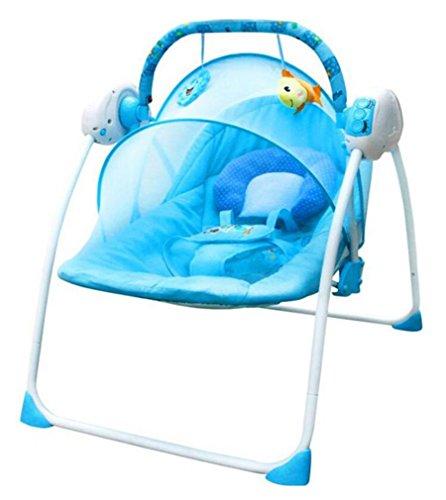 NWYJR Infant Rocker intelligente Neugeborene Vibration Bequeme Multifunktions-Verordnung elektrische Musik Appease Baby-Wippe Bouncer , pink (Tier Baby Bouncer)