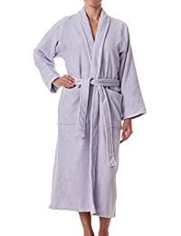 984e92b452 eLuxurySupply Unisex Terry Cloth Robe - 100% Long Staple Cotton Hotel Spa