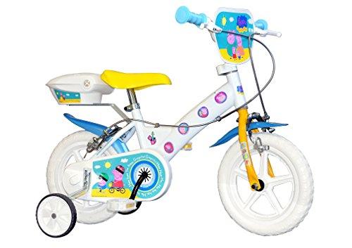 "Dino 152 NL2-PIG 152 NL2-PIG Bicicletta unisex Peppa Pig 12"" 2 freni  Bianco"