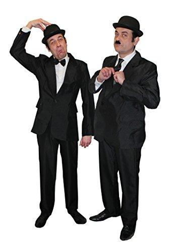 Déguisement pour adulte du plus célèbre duo du cinéma noir et blanc des années 1930. Idéal pour les enterrements de vie de garçon.