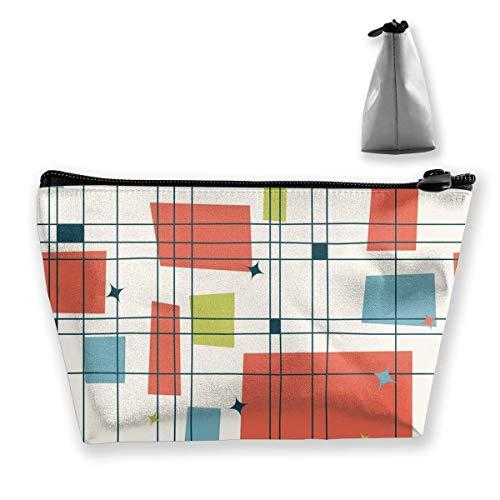 1406bb5580db Abstract Mid Century Modern Grid Pencil Case Bag Zipper Bag Coin Bag Makeup  Bag Pouch Storage