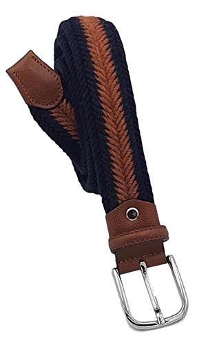Esperanto cintura 35 millimetri lana e cotone con finiture in pelle bovina (tg 56- lung totale 130 cm-girovita 115 cm)