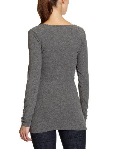 Only - T-Shirt - Femme Grigio (Grau (DARK GREY MELANGE))
