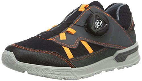 RICOSTA Jungen Bart Low-Top, Grau (Grigio/schwarz/orange 339), 28 EU