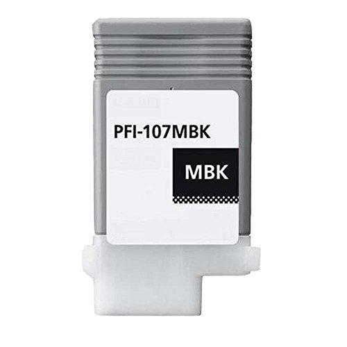 Oyat® 1x Matt-schwarz Kompatibel CANON PFI-107 Tintenpatrone für Canon IPF 670 680 685 770 780 785