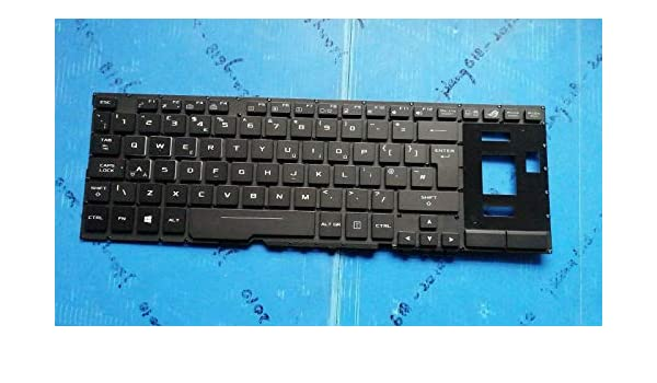 Original for Asus ROG GX501VI GX501VS GX501VSK UK Black backlit Keyboard New!