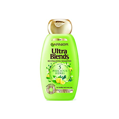 Garnier Ultra Blends 5 Precious Herbs Shampoo, 340ml