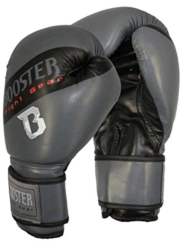 BOOSTER Boxhandschuhe BT Sparring grau-schwarz PU 14 oz