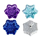 Set of 4 Festive Snowflake Cookie Cutters (5cm diameter)