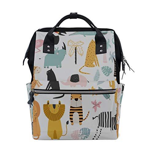 Zoo Tiere Sammlung Cartoon Große Kapazität Windel Taschen Mummy Rucksack Multi Funktionen Windel Pflege Tasche Tote Handtasche Für Kinder Babypflege Reise Täglichen Frauen -