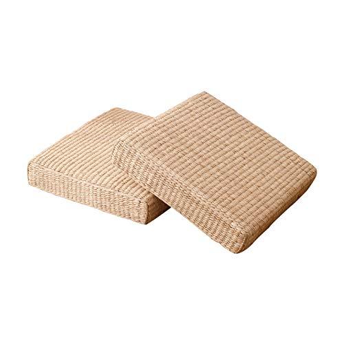 Mahagoni Outdoor-sofa (Wqyiuan Stroh Japanische Meditationskissen Tatami Pad Rattan Futon Sofa Matte Mahagoni Möbel Kissen Meditation Yoga Matte)