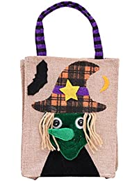 Wdoit 1PCS Halloween borsetta Cartoon Linen Tote Bags Candy bag di  decorazione di Halloween per bambini 18aa4190d7d2