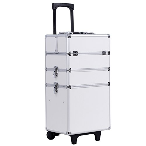 Songmics® Beauty Case Cofanetto Make Up Trolley Bagaglio a mano Valigia Nail Art JHZ01W