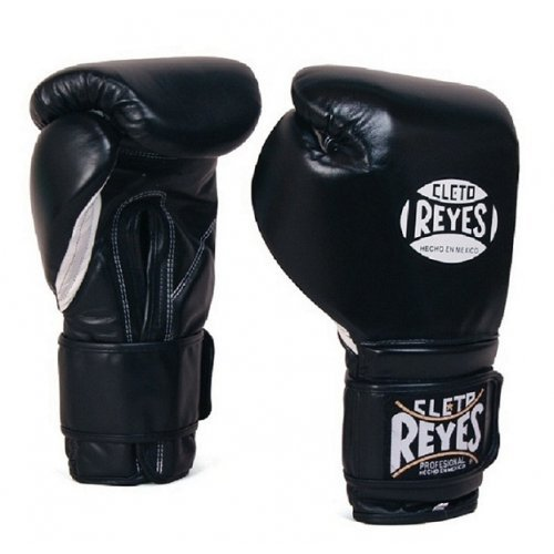 Cleto Reyes Velcro Sparring Gloves - Black 14oz