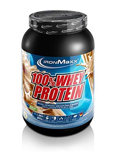 IronMaxx 100% Whey Protein - Whey Haselnuss Eiweißshake - Wasserlösliches Proteinpulver mit Haselnuss Geschmack - 1 x 900 g Dose