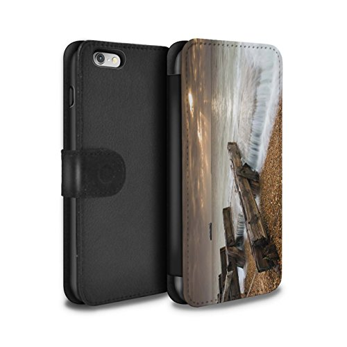 Stuff4 Coque/Etui/Housse Cuir PU Case/Cover pour Apple iPhone 6S / Jetée Design / Bord Mer Anglaise Collection Barricade