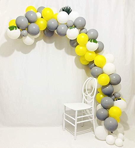 Erosion Ballon Girlande Arch Kit 16Ft Lange grau gelb weiße Latex Ballons Pack für Baby Shower Jäten Geburtstag Bachelorette Party Hintergrund Dekorationen (Grau Und Gelb-party Dekorationen)
