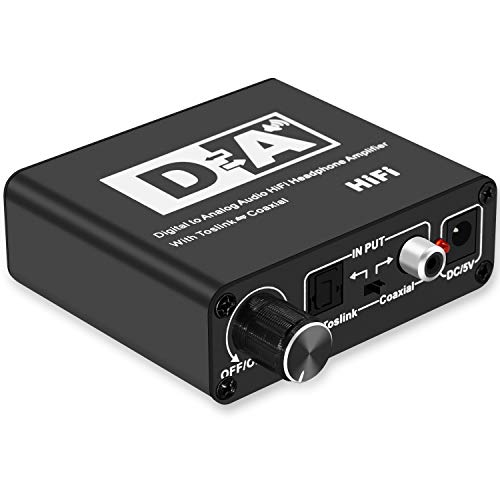Lemorele 192Khz Digital zu Analog Konverter DAC Wandler Audio SPDIF Toslink Koaxial Analog Stereo Audio L/R Cinch Adapter für PS3, PS4, Xbox, Blu-ray Player, HD DVD, Heimkino Systeme, AV Verstärker Av-koaxial-adapter