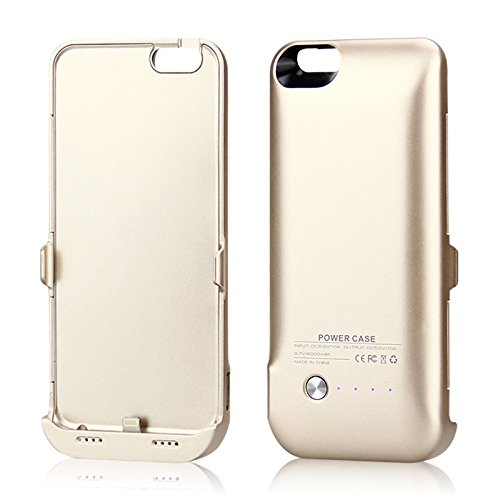 iPhone 6 / iPhone 6S Coque Batterie Étui 6000mAh Ultra Mince External Rechargeable de Chargeur Portable de Secours Externe Chargeur Housse Power Case Prolonger de Protection pour iPhone 6 / iPhone 6S d'or