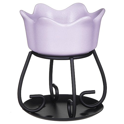 yankee candle 1521533 Petal Bowl Bruciatore per tart, Ceramica, Porpora, 10.3x11.3x13.4 cm
