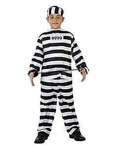 Atosa-98638 Atosa-98638-Disfraz Preso-Infantil Unisex, Color negro, 3 a 4 años (98638