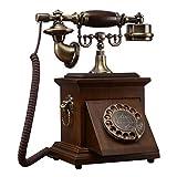 Arrobin Khan JL ZB Teléfono Fijo De La Oficina En El Hogar Teléfono Retro Rotatorio De Madera Sólido Retro Europeo De La Oficina En Casa A+ (Color : 2)