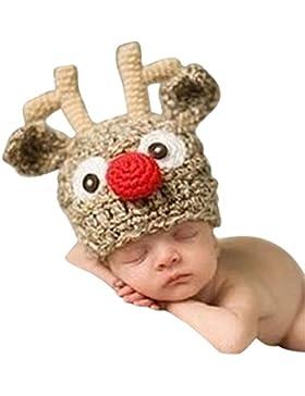 Kidslove Strickmütze Kinder Baby Kindermütze Strick Mütze Hirsch Fotoshooting Hut Kostüm Hüte